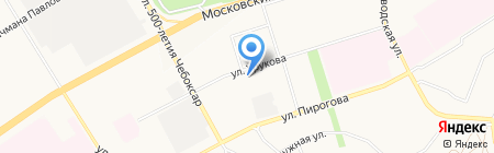 Бибколлектор на карте Чебоксар