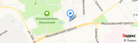Автостоянка на Московском проспекте на карте Чебоксар