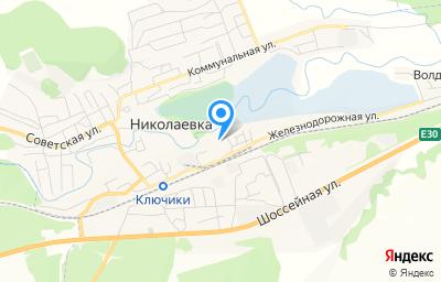 Местоположение на карте пункта техосмотра по адресу Ульяновская обл, рп Николаевка, ул Железнодорожная, д 1