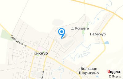 Местоположение на карте пункта техосмотра по адресу Кировская обл, пгт Кикнур, ул Восточная, д 7