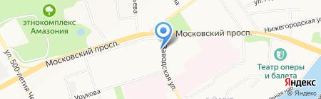 Университетское на карте Чебоксар