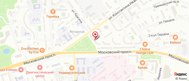 Карта расположения пункта доставки Пункт выдачи в городе Чебоксары