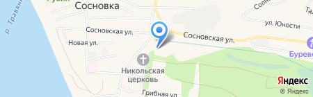 Участковый пункт полиции пос. Сосновка на карте Чебоксар
