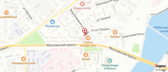 Карта расположения пункта доставки На Водопроводной в городе Чебоксары
