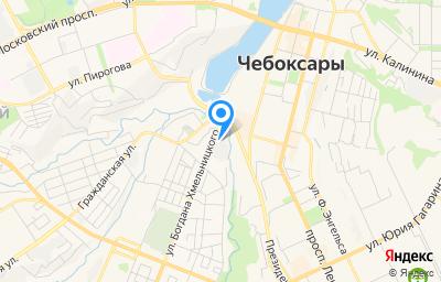 Местоположение на карте пункта техосмотра по адресу г Чебоксары, ул Богдана Хмельницкого, д 3В
