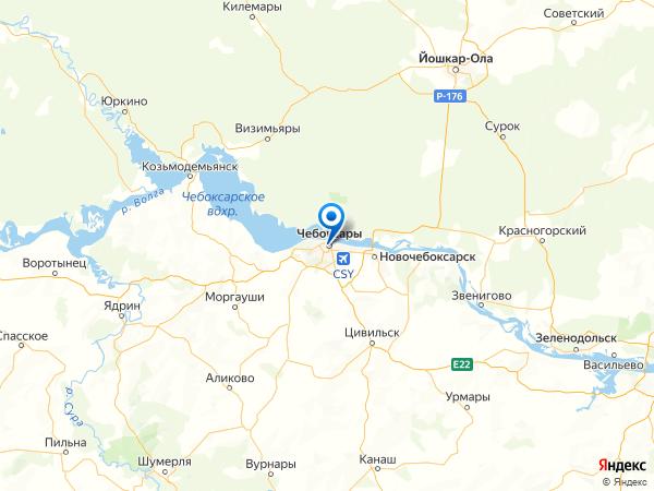 Чебоксары на карте