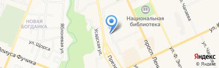 Центр на карте Чебоксар