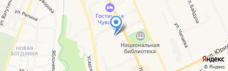 Алтис на карте Чебоксар