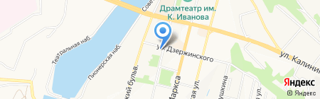 Габбро на карте Чебоксар
