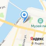 Волга на карте Чебоксар