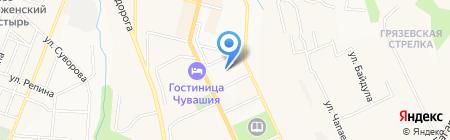 Московский Комсомолец в Чебоксарах на карте Чебоксар