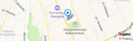 Фармация на карте Чебоксар