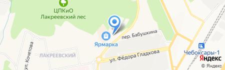 Венец на карте Чебоксар