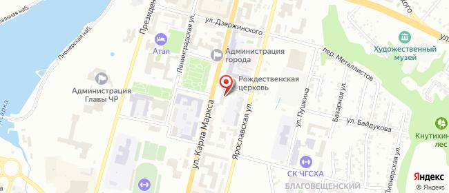 Карта расположения пункта доставки Lamoda/Pick-up в городе Чебоксары