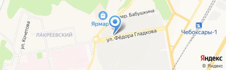 Автобаза скорой медицинской помощи на карте Чебоксар