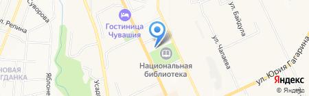 Ветеринарный врач на карте Чебоксар