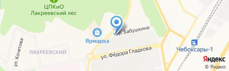 Невский на карте Чебоксар