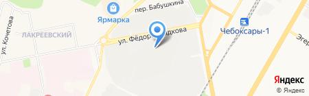Электроарсенал на карте Чебоксар