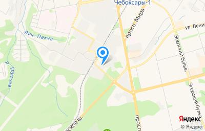 Местоположение на карте пункта техосмотра по адресу г Чебоксары, ул Пристанционная, д 3Д