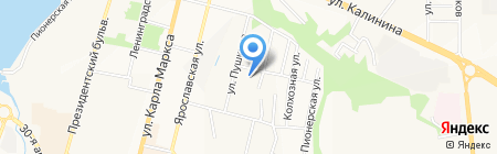 Ленинский районный суд на карте Чебоксар