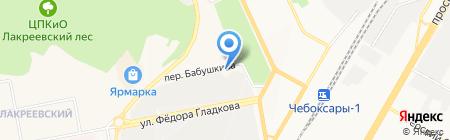 Восток-Авто на карте Чебоксар