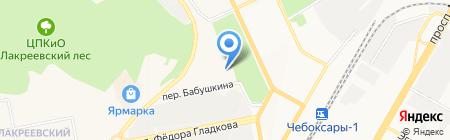 Строительное Управление-11 на карте Чебоксар