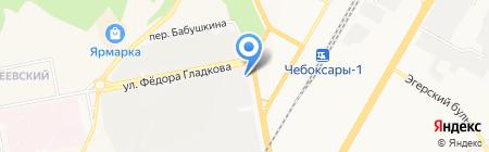 Беата на карте Чебоксар