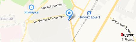 Хуторок на карте Чебоксар