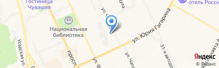Детский сад №9 на карте Чебоксар