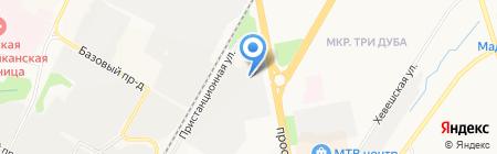 Ива на карте Чебоксар