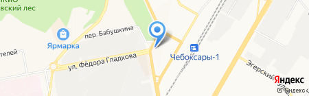 Тайдекс на карте Чебоксар