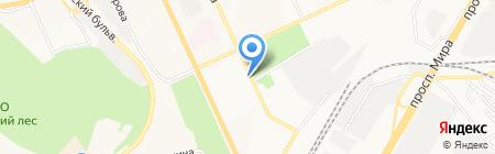 Вика-Двина на карте Чебоксар
