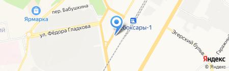 Рубль Бум на карте Чебоксар