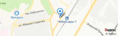 Пестречинка на карте Чебоксар