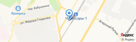 Фан-Фан на карте Чебоксар
