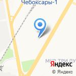 Управление государственного автодорожного надзора по Чувашской Республике на карте Чебоксар