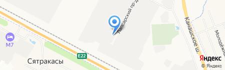 Завод Стеклопакетов на карте Чебоксар