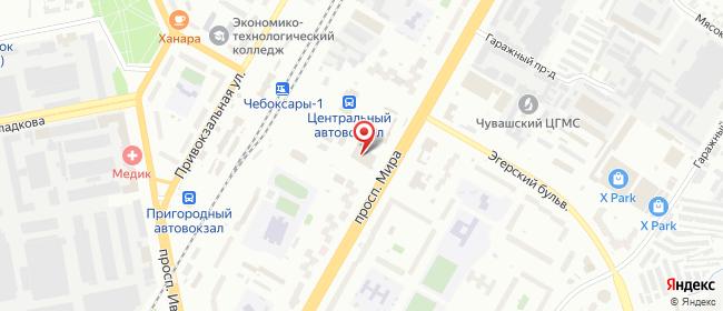 Карта расположения пункта доставки Халва в городе Чебоксары