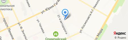 Mustang на карте Чебоксар