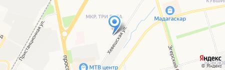 Юникс на карте Чебоксар