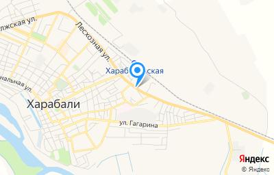 Местоположение на карте пункта техосмотра по адресу Астраханская обл, г Харабали, ул Лесхозная, д 4