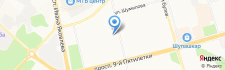 Средняя общеобразовательная школа №20 на карте Чебоксар