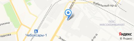 Волжанка-инвест на карте Чебоксар