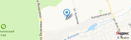 Рябинка на карте Чебоксар