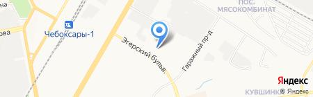 АвтоТраст на карте Чебоксар
