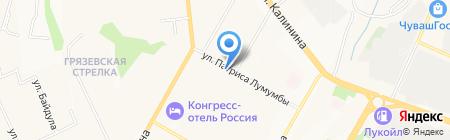 Норма на карте Чебоксар