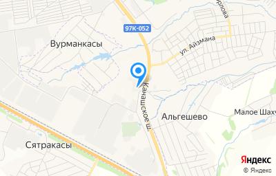 Местоположение на карте пункта техосмотра по адресу г Чебоксары, ш Канашское, д 7, пом 1