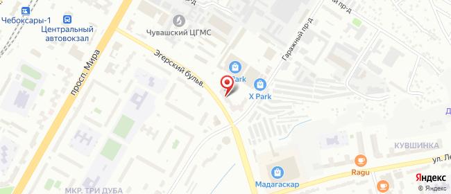 Карта расположения пункта доставки Westfalika в городе Чебоксары