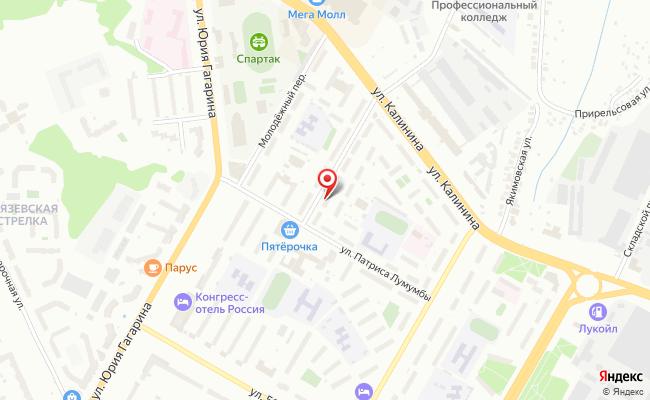 Карта расположения пункта доставки Чебоксары Декабристов в городе Чебоксары
