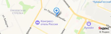 КоммерсантЪ на карте Чебоксар